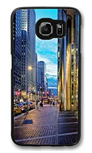 Chicago Streets Custom Samsung Galaxy S6/Samsung S6 Case Cover Polycarbonate Black