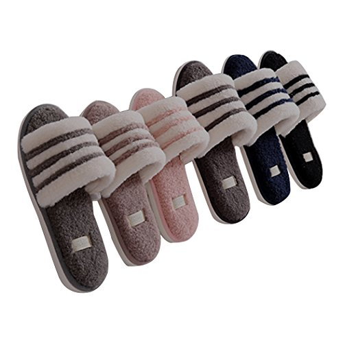 Pantofole Invernali Antiscivolo Da Uomo / Donna Morbide Open Toe Miyang Nere