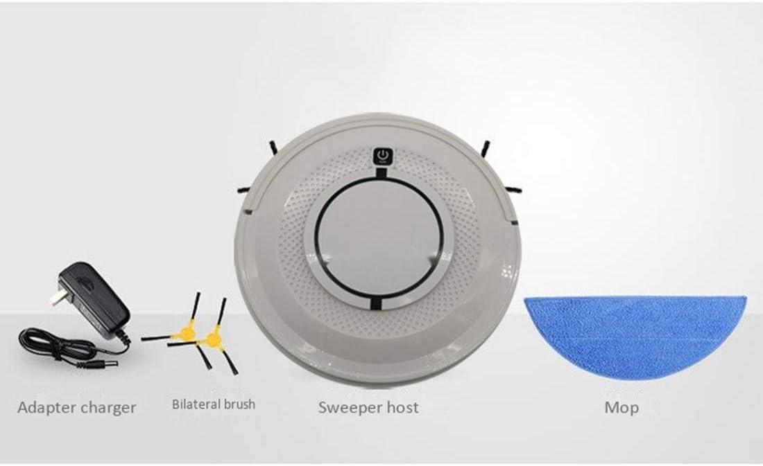 Gmjay Robot Aspirateur Aspiration Balayage Le Robot Nettoyeur de Rechargement Automatique sans Fil Peut Être Rempli Blanc Dark-gray