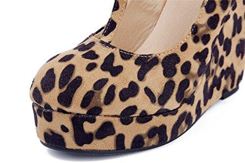 AgeeMi Shoes Damen Runder Toe Knöchelriemchen Pumps Wedges Schuhe mit Plateau