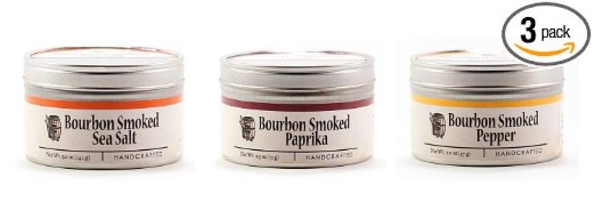 Bourbon Barrel Smoked Bundle of 3 - Bourbon Smoked Sea Salt, Bourbon Smoked Pepper, Bourbon Smoked Paprika by Bourbon Barrel (Image #2)