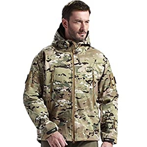 3. FREE SOLDIER Men's Jackets Outdoor Waterproof Softshell Hooded Tactical Jacket