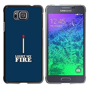Paccase / SLIM PC / Aliminium Casa Carcasa Funda Case Cover para - Match Blue White Fire Love Valentines - Samsung GALAXY ALPHA G850