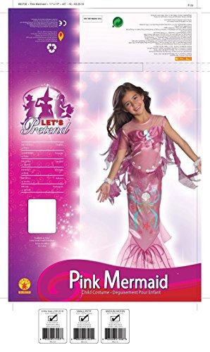 Let's Pretend Pink Mermaid Costume,Medium 8-10 - http://coolthings.us