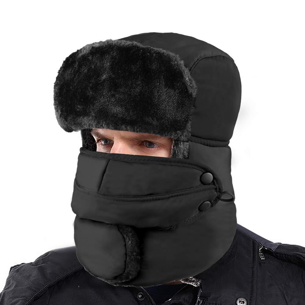 616184c52b3dd XIAOYAO Gorros de Aviador Impermeable Sombrero de Bombardero de Invierno  Mantenerse Cálido Mientras Patinaje