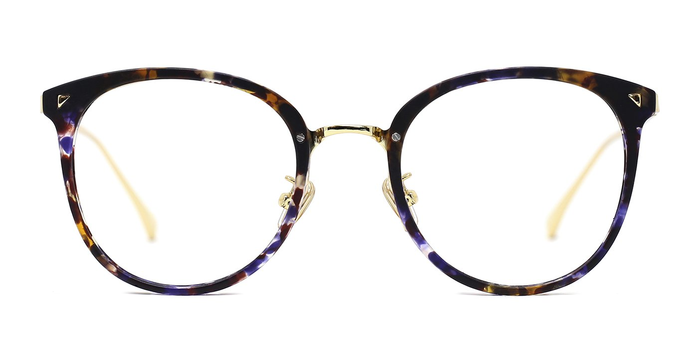 TIJN Women Retro Metal Round Glasses Frame Optical Rx-able Eyeglasses Frame 00038004