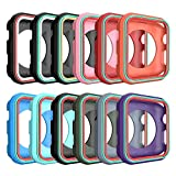 AWINNER Colorful Case for Apple Watch 42mm,Shock-proof and Shatter-resistant Protective iwatch Silicone Case for Apple Watch Series 3,Series 2,Series 1, Nike+,Sport,Edition (12-Colour)