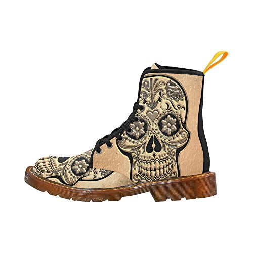 Leinterest Skull Martin Boots Fashion Shoes Voor Heren