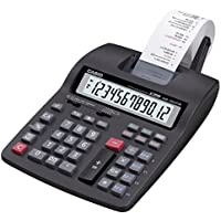 Casio Hr-150tm-bk-a 2-color Mini Printing Desktop Calculator with 12-digit Extra Large Display Currency Conversion