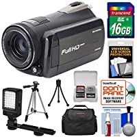 Bell & Howell Rogue DNV24HDZ 1080p HD Video Camera Camcorder with Infrared Night Vision + 16GB Card + Case + LED Video Light + Tripod Kit