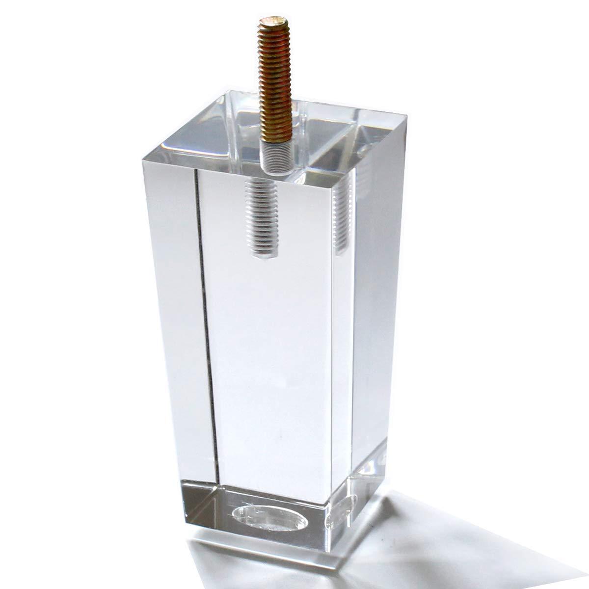 Aoryvic 4 Inch Pyramid Acrylic Furniture Diy Legs Clear Glass