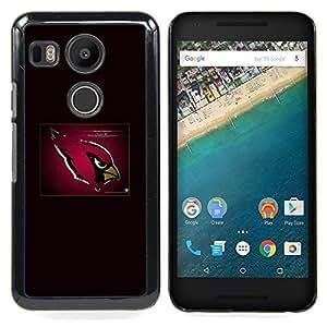 - Cardinal NFL - - Cubierta del caso de impacto con el patr??n Art Designs FOR LG Google Nexus 5X Queen Pattern