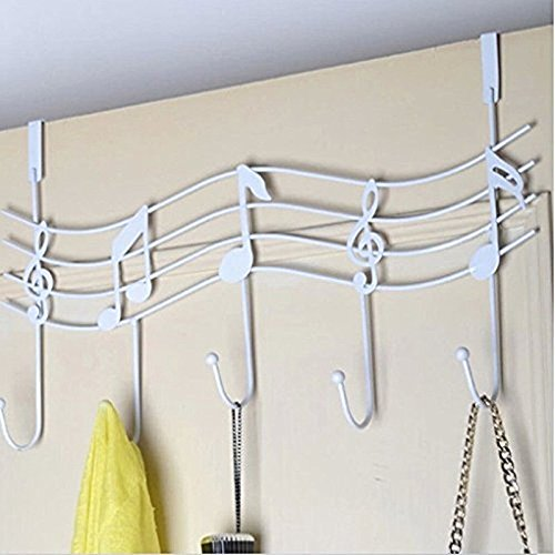 Music Note Style Hanger Over Door Clothes Coat Dress Hooks Towel Rack Holder WL9