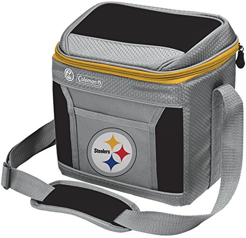 (Coleman NFL Soft-Sided Insulated Cooler Bag, 9-Can Capacity with Ice, Pittsburgh Steelers)