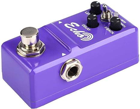 Pedal de efectos ECHO, Pedal de Efecto de Guitarra, Mini Pedal ...