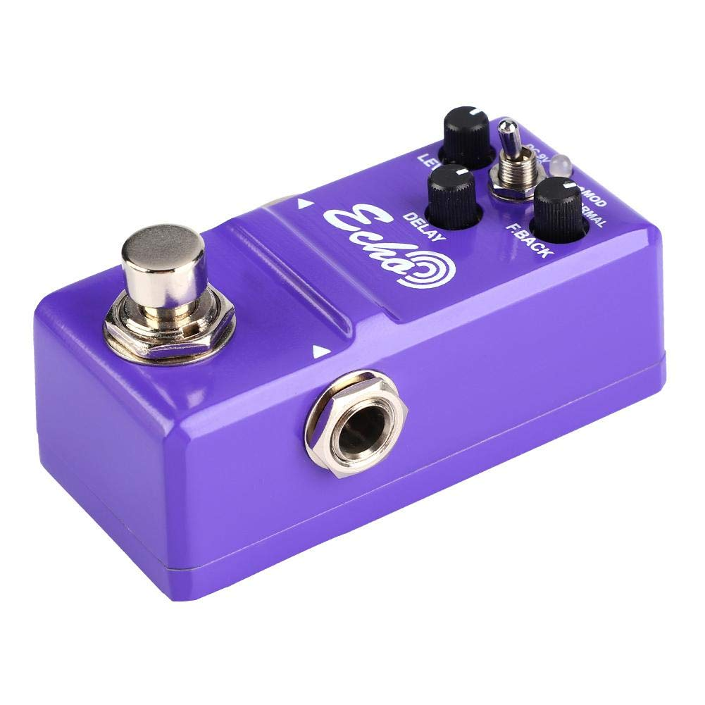 Guitar Effect Pedal, Mini Multi-Effects Pedal or Metal Shell Analog ECHO Guitar Effect Pedal with True Bypass Instrument Accessory 1/4'' Standard Interface Fits most of Equipment