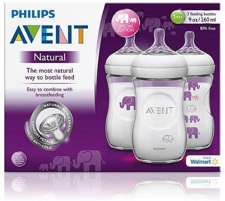 Philips AVENT chupetes Botellas Naturales y elefantes Bundle ...
