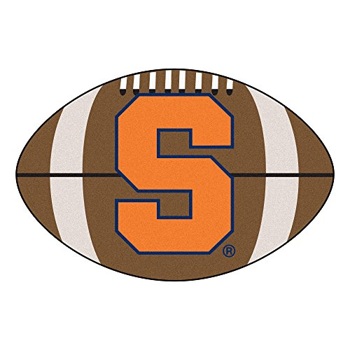 FANMATS NCAA Syracuse University Orange Nylon Face Football Rug - Syracuse Football Rug