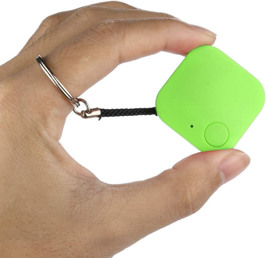 ZW Pets Mini rastreador GPS, rastreador Bluetooth Impermeable antipérdida con Cuerda para Colgar Llaves, Cartera para niños, Equipo de búsqueda