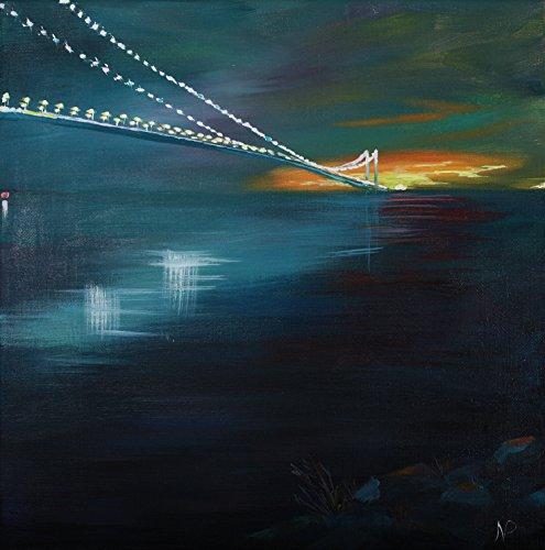 Infinity - Landscape - Verrazano Bridge - Original Acrylic Painting by CAGO awarded artist
