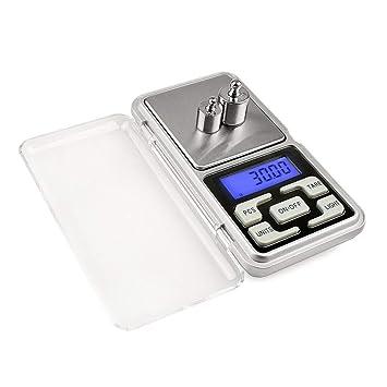 ZHANGYUGE Báscula Digital de precisión para Las Joyas de Oro 0,01 Peso Báscula Electrónica Diamantes Monedas Peso balanzas electrónicas Digitales ...