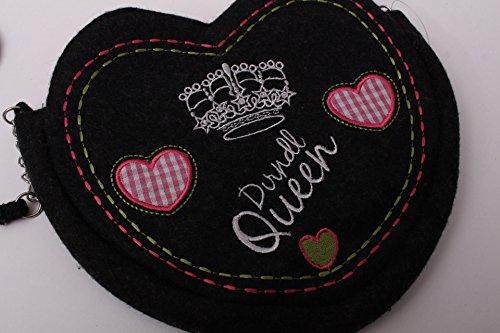 Tasche Dirndl Queen Dirndltasche Filztasche Umhängetasche Oktoberfest Dirndl Trachten grau