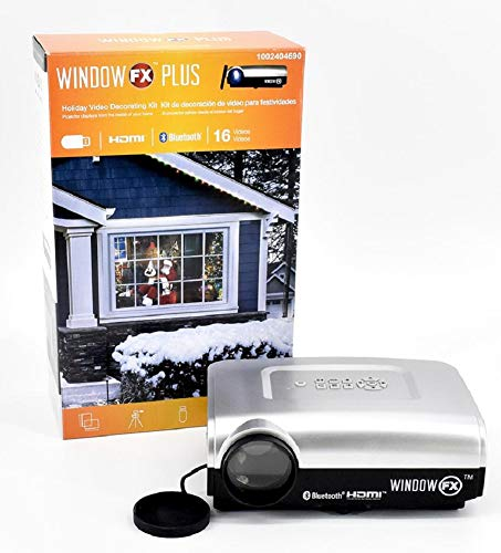 Window FX Plus Holiday Video Decorating Projector Kit with 16 Videos]()