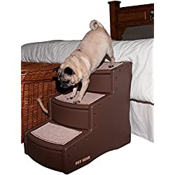 Pet Gear Easy Step III Pet Stairs, 3-step/for cats and dogs up to 150-pounds, Chocolate