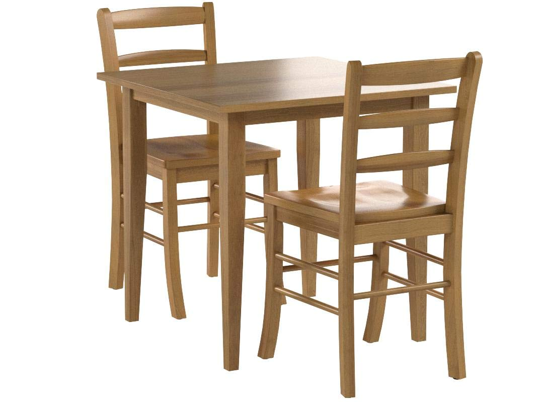 Winsome Groveland 3-Piece Wood Dining Set, Light Oak Finish by Winsome Wood (Image #5)