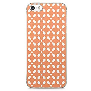 Loud Universe Orange Motif with White Pattern iPhone 5 / 5s Case Classical Arabic Style iPhone 5 / 5s Cover with Transparent Edges