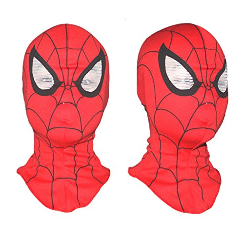 [R-LivE Beanies Face Mask Costume Crossbones Cap Boys Girls Party Hats Spiderman Red] (High Quality Spiderman Suit)