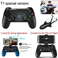 Game Sir T1 Remote Controller Gamepad For DJI Tello Drone IOS 7.0 +Android 4.0+, Support platform: Above IOS 7.0, More Than 4.0 Android (Black)
