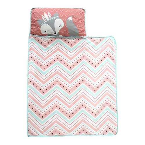 Little Lamb Blanket (Lambs & Ivy Little Spirit Nap Mat, Coral/Blue/White)