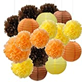 Furuix Fall Party Decorations, Autumn Decorations, Party Package, Orange Party Kit,Thanksgiving Party Decorations/Birthday Party Decorations