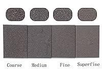 Sanding Sponge - 4 Pack Coarse, Medium, Fine, Superfine Mixed, Washable and Reusable.