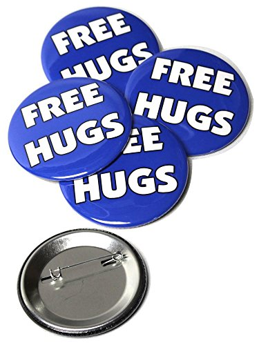 Free Hugs Pinback Buttons - 2.25 Inch Round - 5 Pack (Free Hugs)