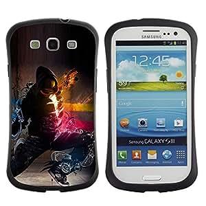 "Hypernova Slim Fit Dual Barniz Protector Caso Case Funda Para SAMSUNG Galaxy S3 III / i9300 / i747 [Oscuro Súper Fantasía de combate Samurai""]"