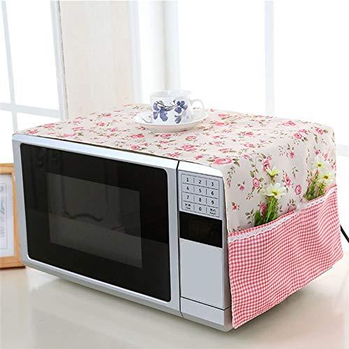 Funda antipolvo para horno microondas, diseño de flores rosa ...