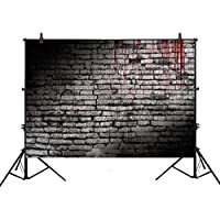 Allenjoy 7x5ft photography backdrop background vintage splatter dripping bloody brick wall dark horror scary halloween festival props photo studio booth