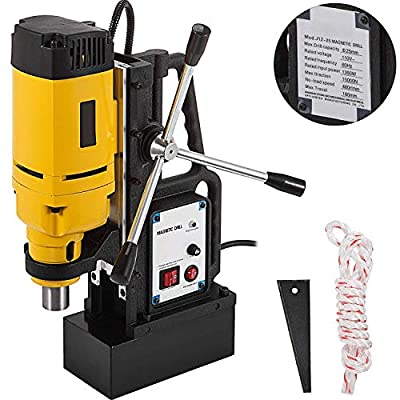 Mophorn Magnetic Drill 1350W Magnetic Drill Press with 1Inch Boring Diameter Annular Cutter Machine 3372 LBS