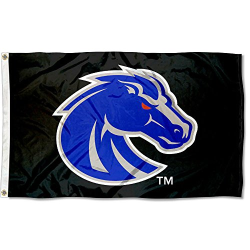 College Flags and Banners Co. Boise State Broncos Black 3x5 Flag Boise State Broncos Flag