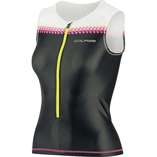 Louis Garneau Tri Elite Course Sleeveless Top - Women's Black / Pink Glow Medium