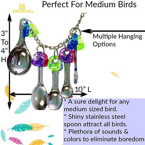 Bonka Bird Toys 1969 Spoon Delight African Grey Parrot Cages Bird Toy Bird Cage Toys (Spoon Delight)