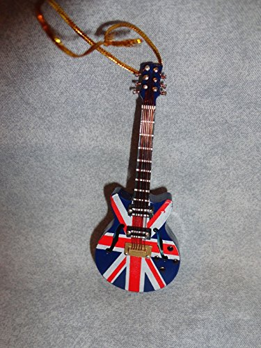 British Guitar (Guitar Ornament British Flag UK 4