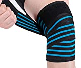 Compression Elasticity Knee Bandage Wrap Weightlifting Squat Fitness Strap Patella Leg Thigh Calf Shin Support Brace Protector GYM Basketball Sport Tape Band Guard -Arthritis Tendonitis Pain-relief