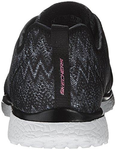 blanco negro blanco negro de Sintético para Zapatillas Skechers negro mujer Material O78Zazwq
