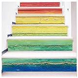 Stair Sticker Decor, Inkach DIY Steps Sticker Removable Stair Sticker Home Decor Wood Grain Pattern Decal