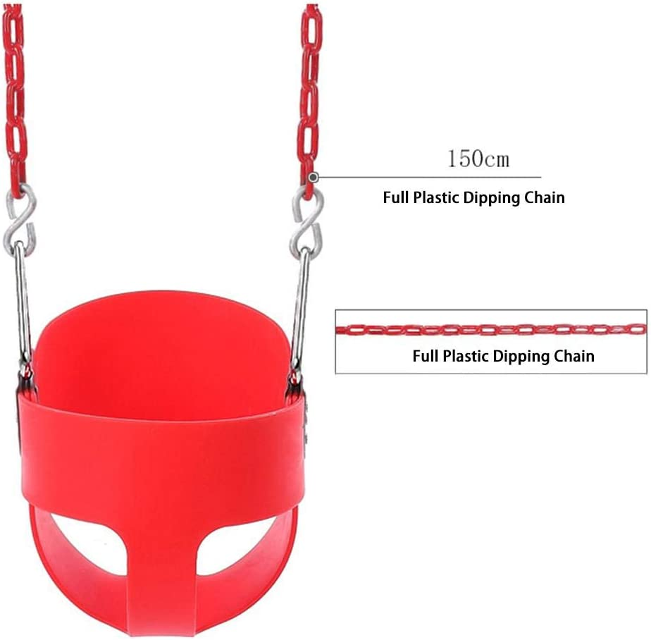 Sundlight Infant to Toddler Swing Seat EVA Plastic Heavy-Duty High Back Full Bucket Toddler Swing Seat with Me Swing 4 Color
