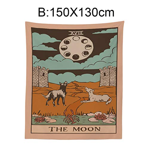 Kay CowperTarot Tapestry The Moon Star Sun Medieval Europe Divination Wall Hanging Hot