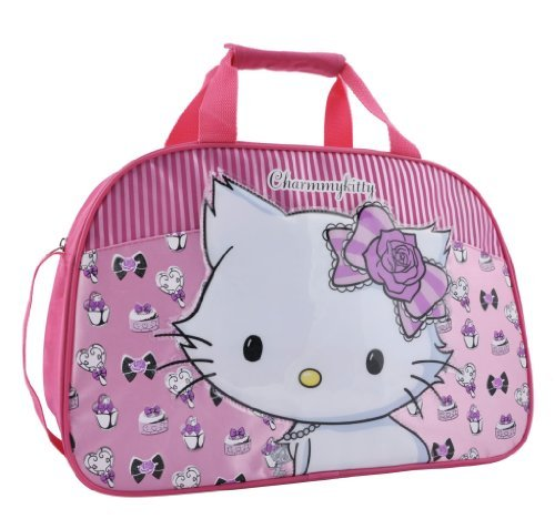 Hello-Kitty-Sanrio-Charmmykitty-Large-Overnight-Bag-with-Raised-Motif